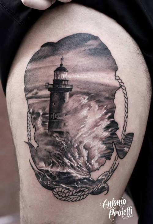 19 best inspired lighthouse tattoos best tattoo ideas gallery - Tattoo leuchtturm ...