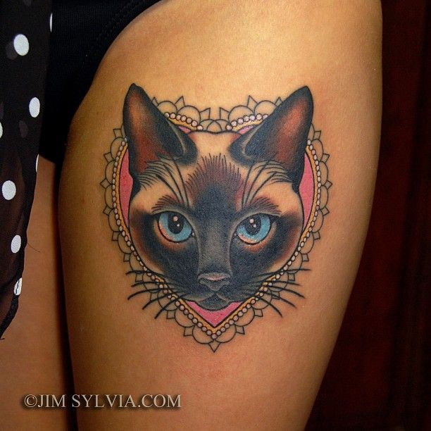 20 wonderful cat tattoos best tattoo ideas gallery for Jim sylvia unbreakable tattoo