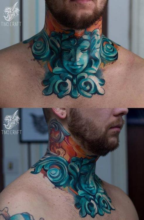 Wonderful Neck Tattoo
