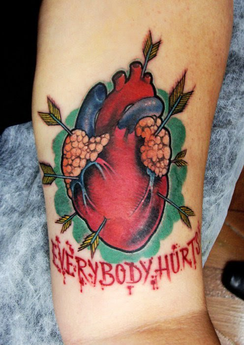 heart tattoo by Victor Montaghini