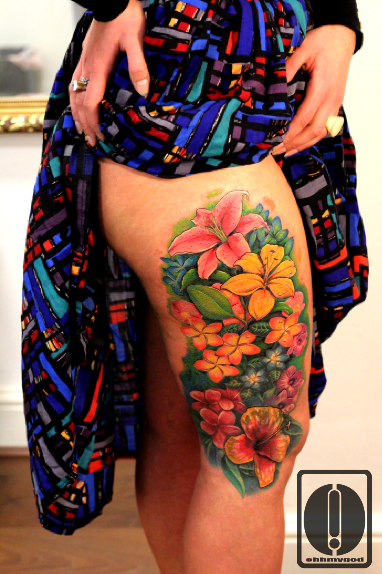 Flower tattoos tender and feminine best tattoo ideas gallery lily tattoo lily tattoo red tulip on a girls body says of the passionate love she experiences now however the yellow flower will tell us a sad story of izmirmasajfo