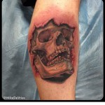 3D Arm Tattoo Skull
