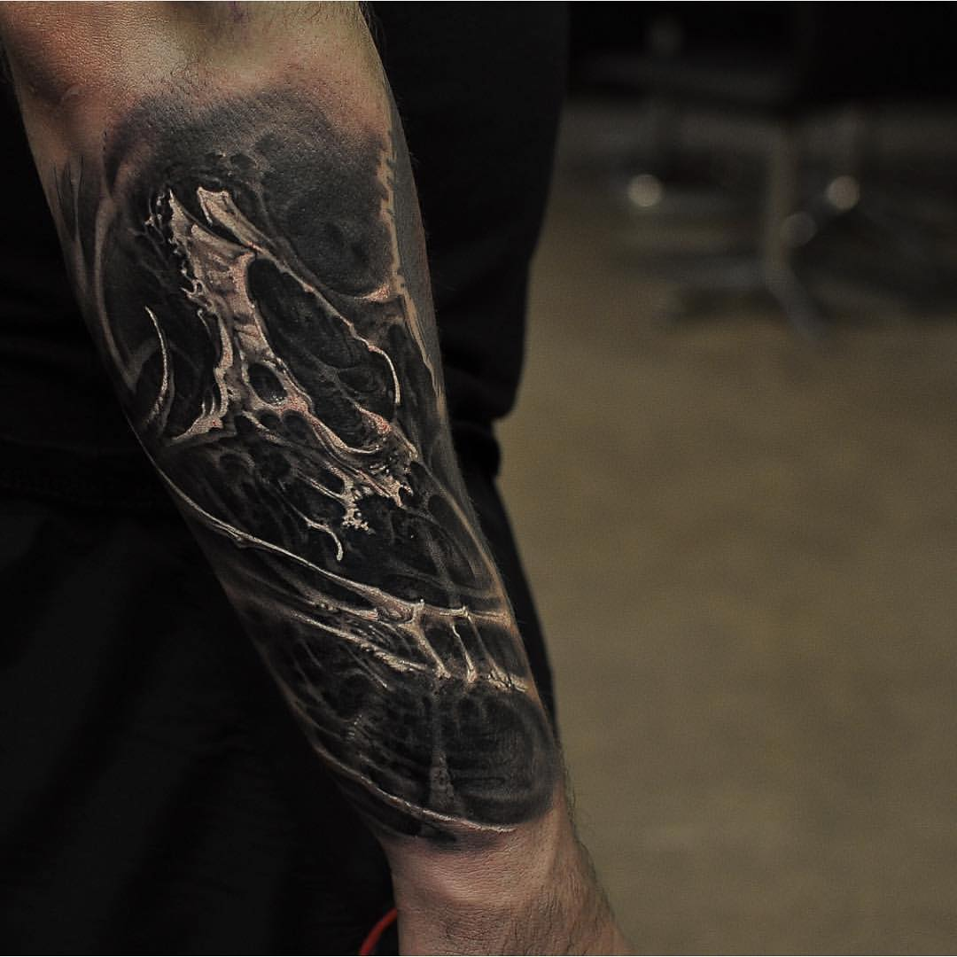 3D Forearm Tattoo