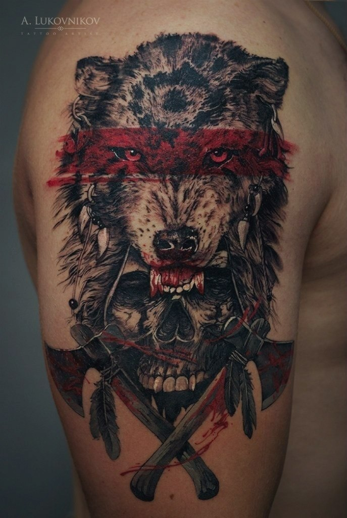 meaning of wolf tattoos best tattoo ideas gallery. Black Bedroom Furniture Sets. Home Design Ideas