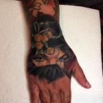 Arabian Girl Hand Tattoo