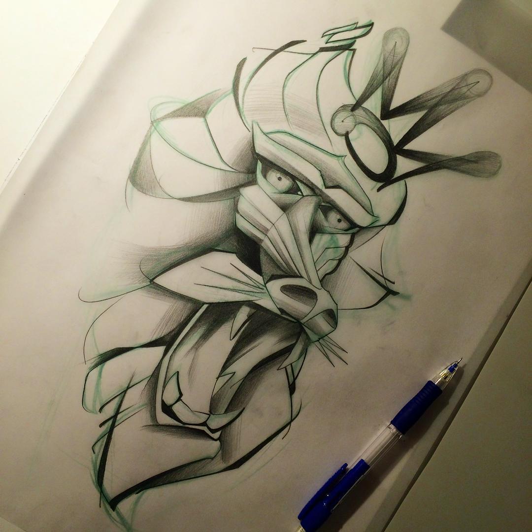 Baboon King Tattoo Design