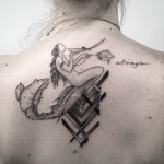 Back Mermaid Tattoo