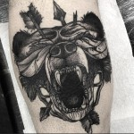 Bear Head Tattoo