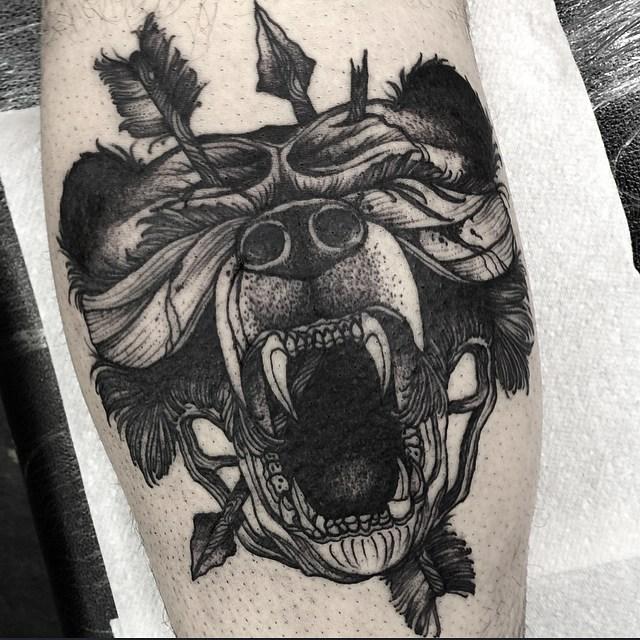 Bear Head Tattoo