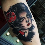 Blues Girl Tattoo