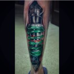 Calf Spring Biomechanical Tattoo