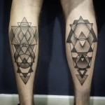 Calfs Geometry Tattoos