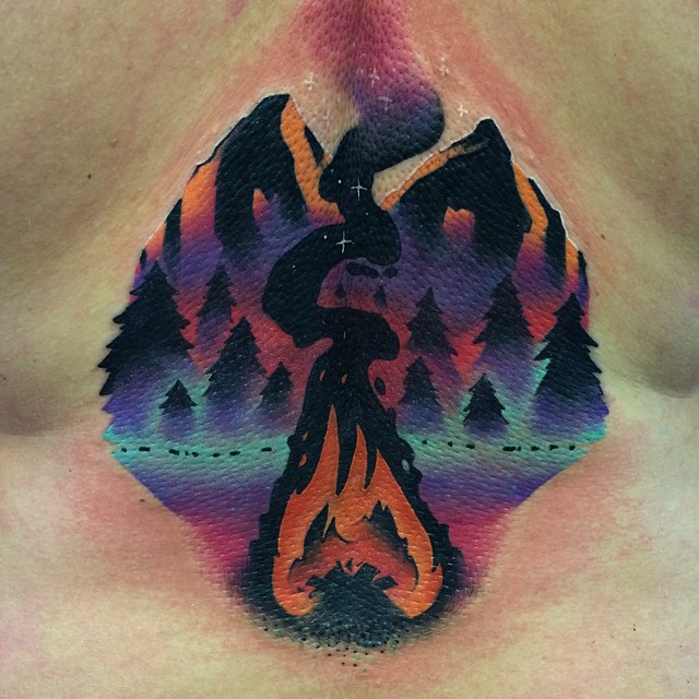 Camp Fire Tattoo