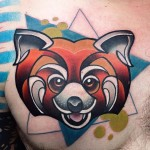 Chest Firefox Tattoo