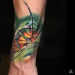 Close Up Grasshopper Tattoo