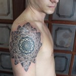 Complex Geometry Tattoo on Shoulder