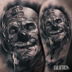 Creep Clown Tattoo on Shoulder