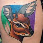 Demon Deer Tattoo