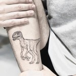 Dinosaur Tattoo on Arm