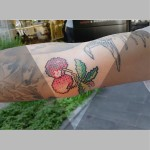 Embroidery Cherry Tattoo