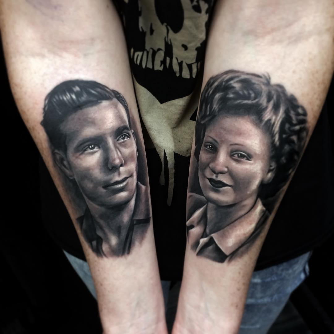 Famiy Portrait Tattoo