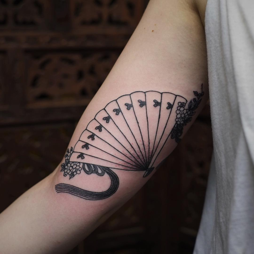 Fan Tattoo on Arm