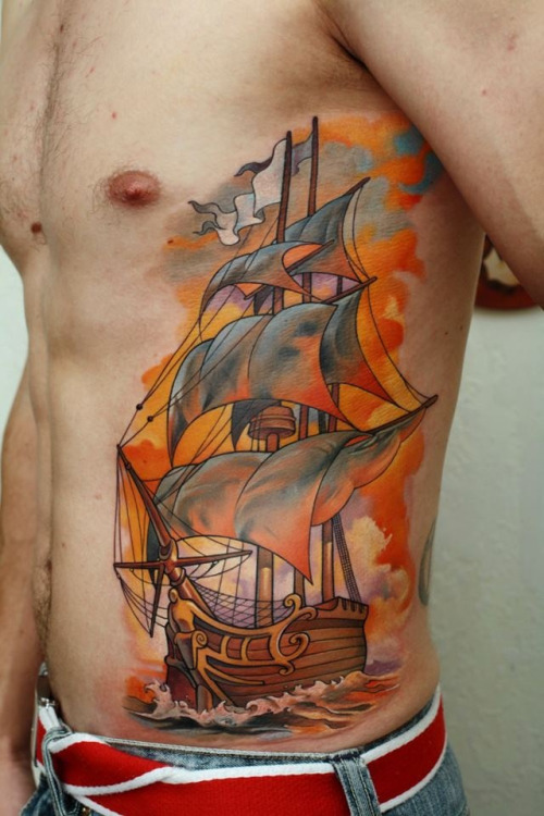 Fire Sails Tattoo