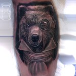 Gentleman Bear Tattoo