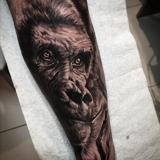 gorilla tattoo best tattoo ideas gallery. Black Bedroom Furniture Sets. Home Design Ideas