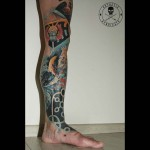 Half Leg Sleeve Tattoo
