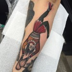 Hanged Man Tattoo on Forearm