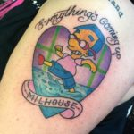 Heart Simpsons Tattoo