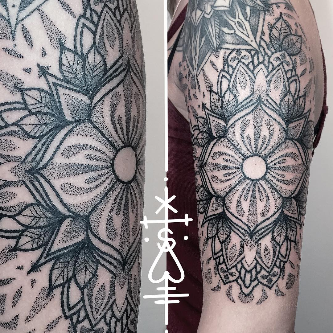 Mandala Tattoo Dotwork