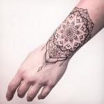 Mandala Wrist Tattoo