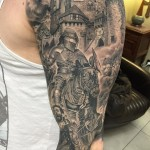 Medieval Sleeve Tattoo