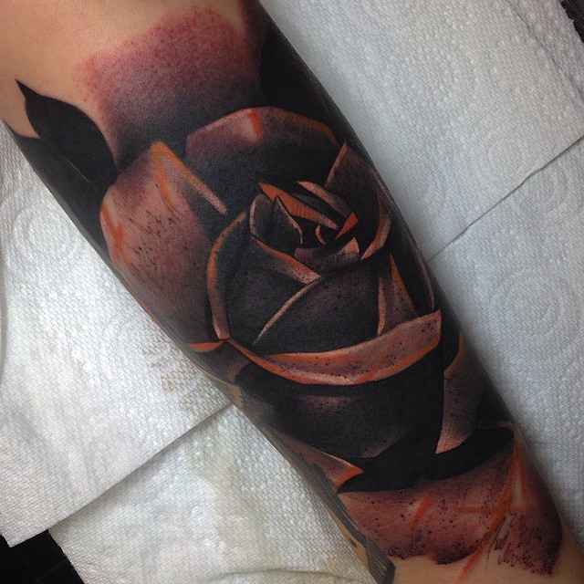 Metal Like Rose Tattoo