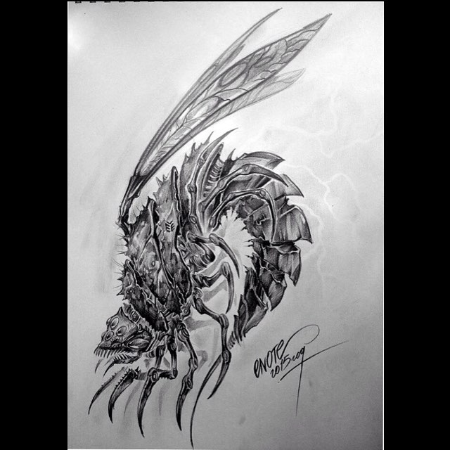 Monster Bug Tattoo Design