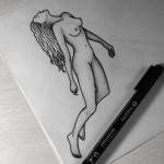 Nude Girl Tattoo Design