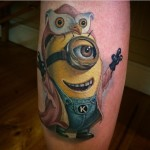 Owl Coat Minion Tattoo