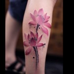 Pink Flower Tattoos