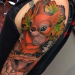 Pretty Squirrel Tattoo