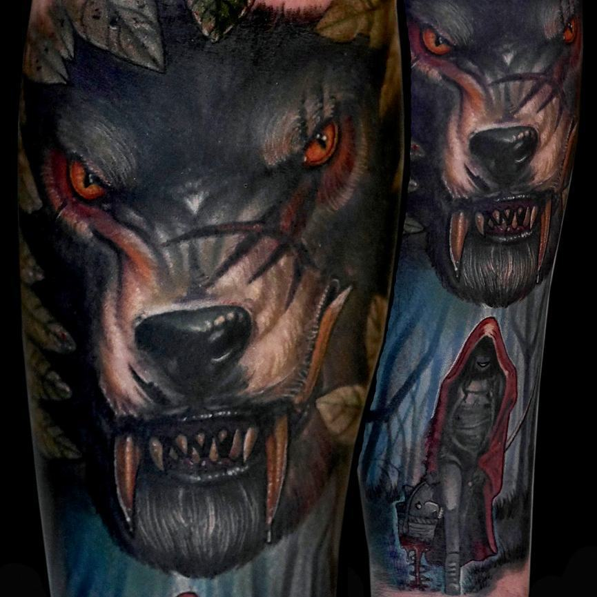 Red Riding Hood Tattoo Sleeve