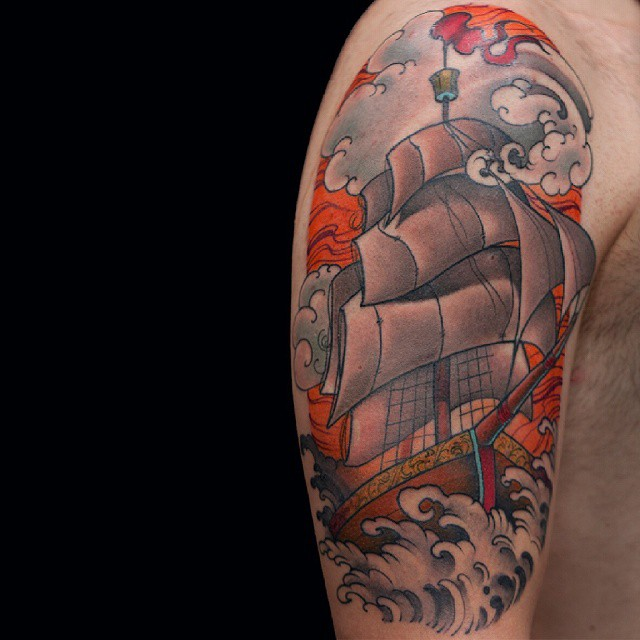 Sailing Ship Tattoo
