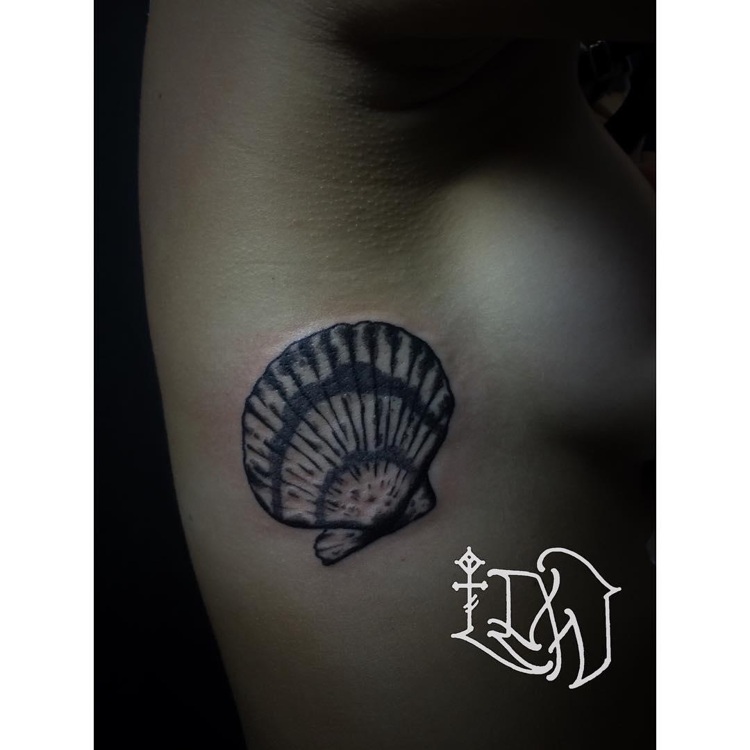 Scalop Shell Tattoo