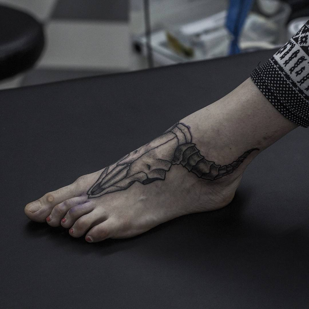 Skull Foot Tattoo
