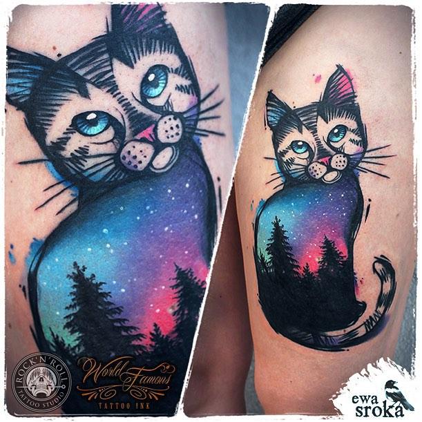 Star Cat Tattoo