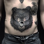 Stomach Bear Tattoo