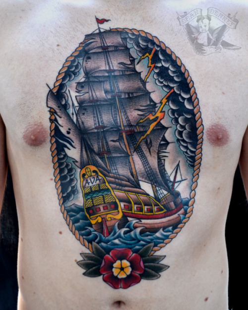 Thunder Ship Tattoo