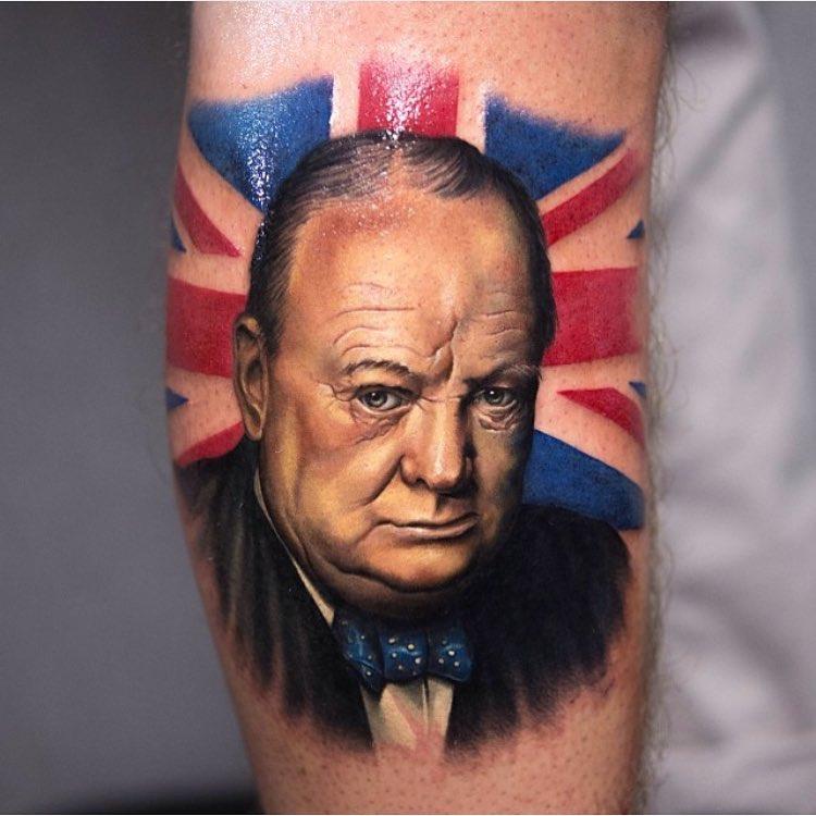 Winston Curchill Tattoo