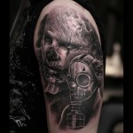 Zombie Apocalypse Tattoo on Shoulder